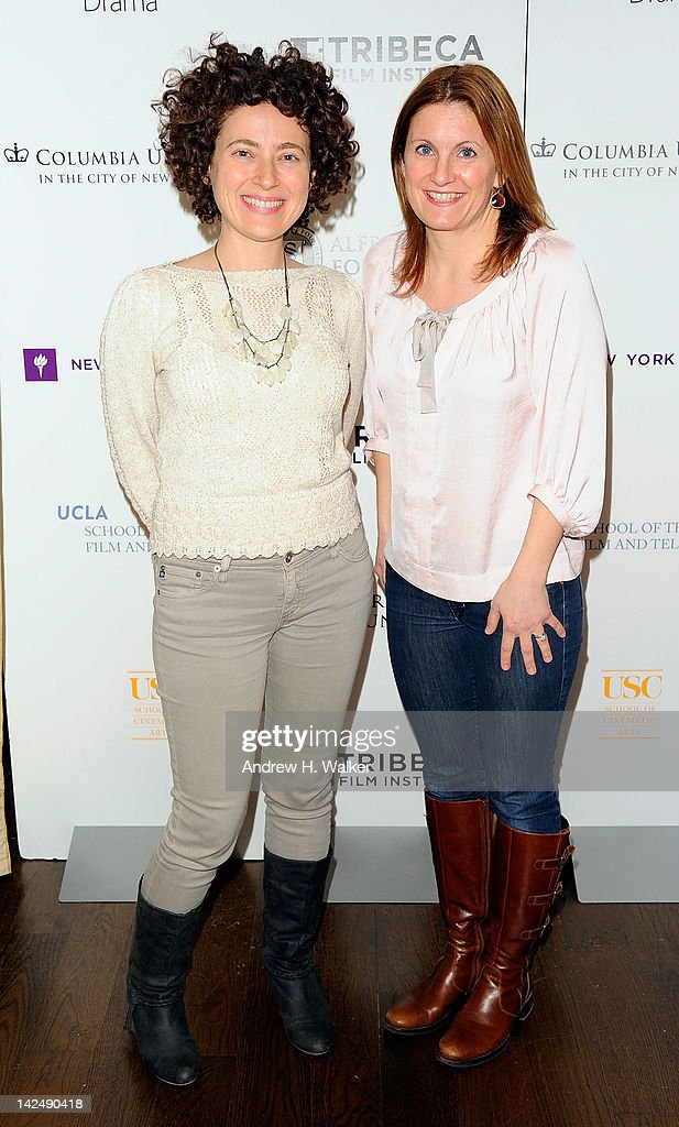 'Future Weather' director Jenny Deller and producer Kristin Fairweather attend the Tribeca Film Institute's Sloan Student Grand Jury Award Cocktails at RDV on April 5, 2012 in New York City.