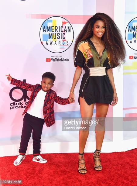Future Zahir Wilburn and Ciara attend the 2018 American Music Awards at Microsoft Theater on October 9 2018 in Los Angeles California
