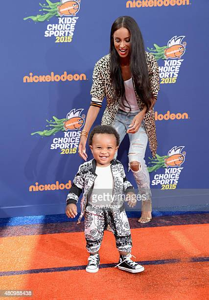 Future Zahir Wilburn and recording artist Ciara attend the Nickelodeon Kids' Choice Sports Awards 2015 at UCLA's Pauley Pavilion on July 16 2015 in...