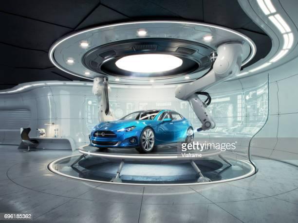 futurelab generic car - construction platform stock photos and pictures