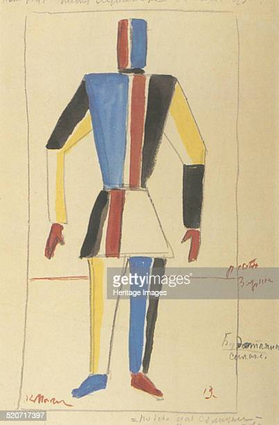 Futurist Strongman Costume design for the opera Victory over the sun after A Kruchenykh Found in the collection of State Russian Museum St Petersburg