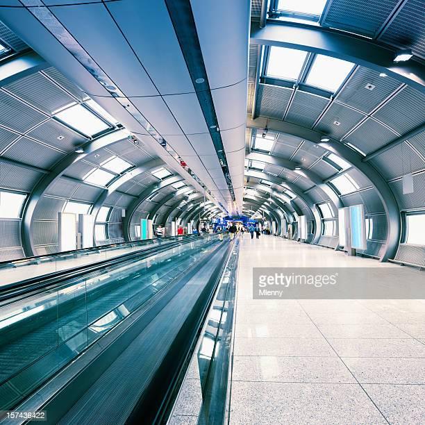 Futuristic Airport Walkway Tunnel