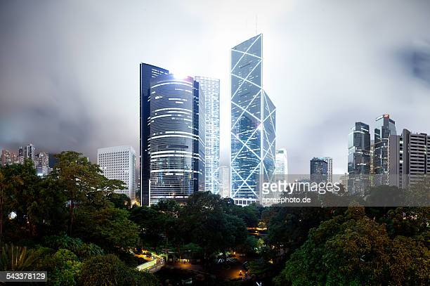 Futuristic architecture Hong Kong central
