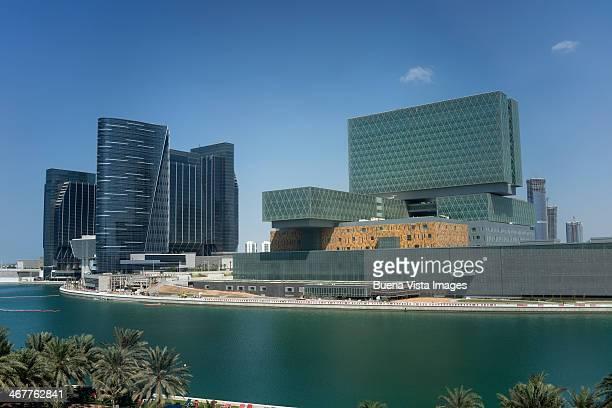 Futuristic architecture on Al Maryah Isl
