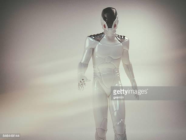 futuristic astronaut - traje espacial fotografías e imágenes de stock