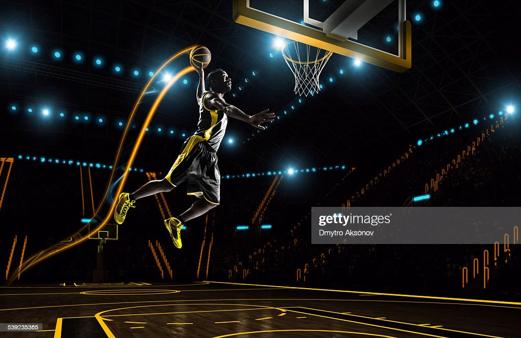 Futuristic basketball : Stock Photo