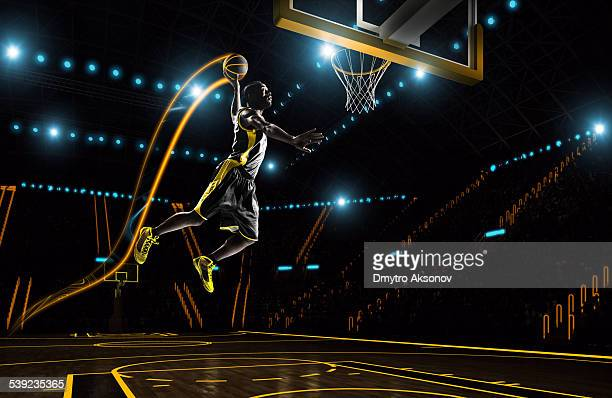 futuristic basketball - basketball sport stock pictures, royalty-free photos & images