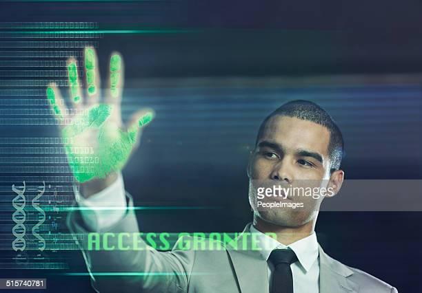 Futuristic biometric scanner