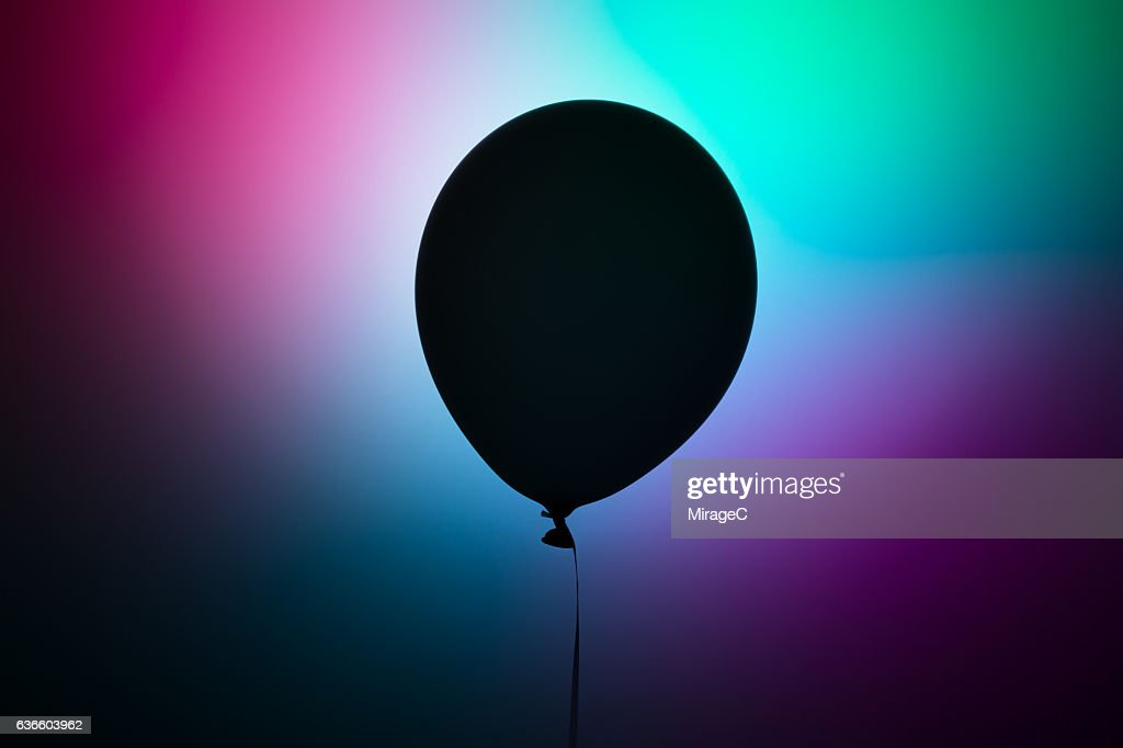 Futuristic Black Balloon : Stock Photo