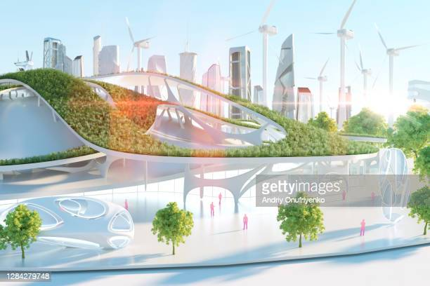 futuristic building - building exterior stock pictures, royalty-free photos & images