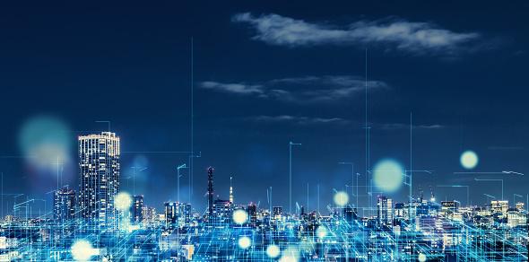 Futuristic city concept. 1129543911