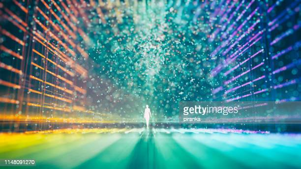 futuristic city - wire mesh stock pictures, royalty-free photos & images
