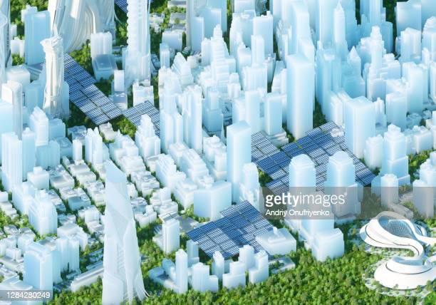 futuristic city - トピックス ストックフォトと画像