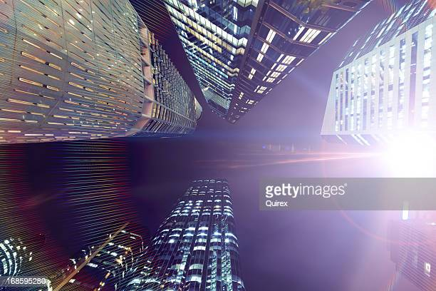 futuristic city - brisbane stock pictures, royalty-free photos & images