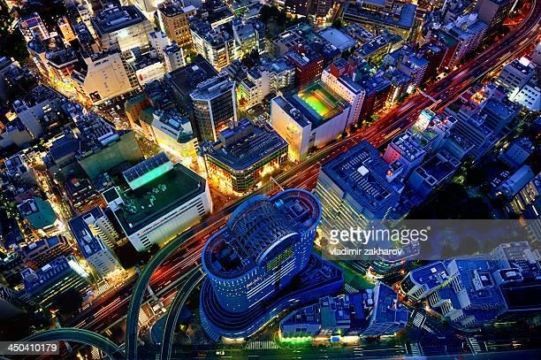 Futuristic cityscape of Tokyo