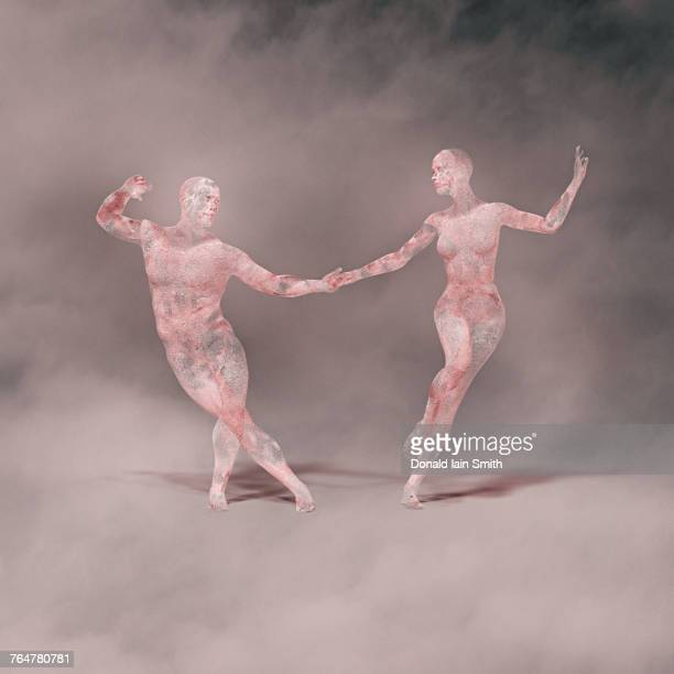 Futuristic couple dancing