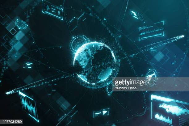 futuristic data center - international politics stock pictures, royalty-free photos & images