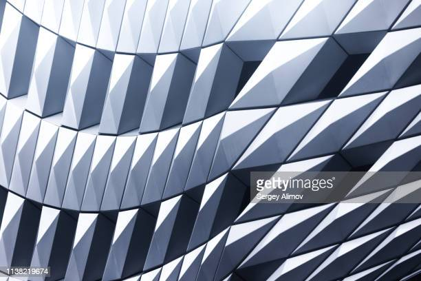 futuristic design of building in tokyo - asymmetry stock pictures, royalty-free photos & images