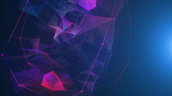 Futuristic digital blockchain background, fintech technology 952039816