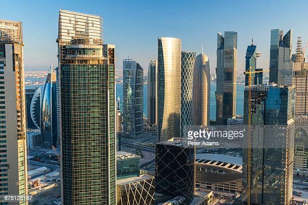 Futuristic Doha skyline, Qatar, Middle East