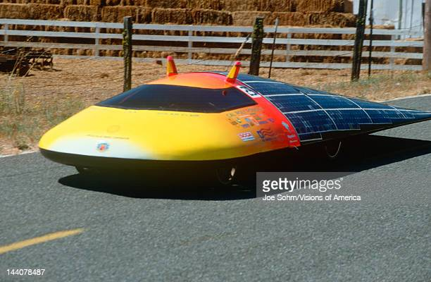 Futuristic ecocar at the Solar Energy Expo and Rally in Willits California