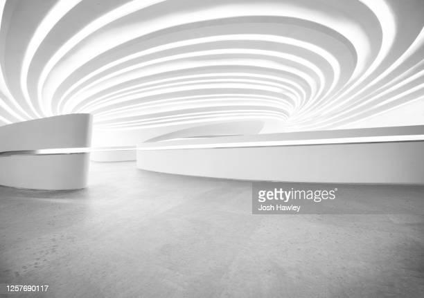 futuristic empty background, 3d rendering - 建築上の特徴 アーチ ストックフォトと画像