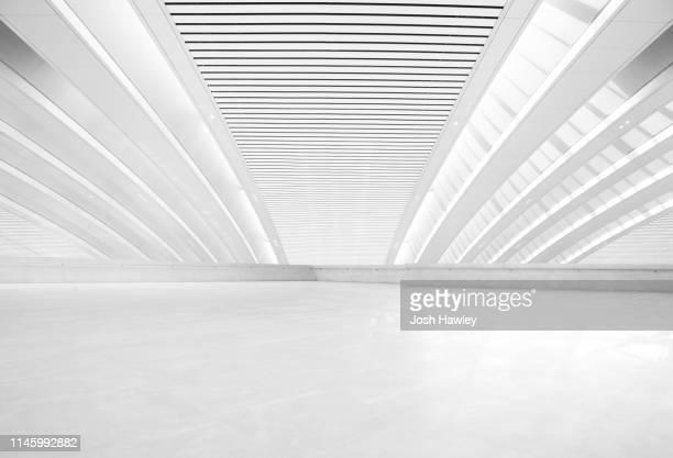 futuristic empty room, 3d rendering - 床 ストックフォトと画像
