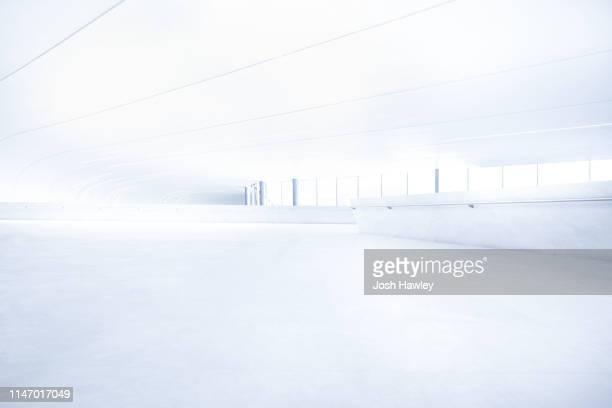 futuristic empty room, 3d rendering - copy space ストックフォトと画像