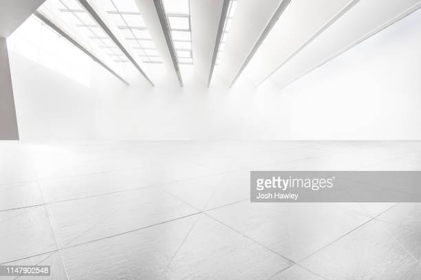 futuristic empty room, 3d rendering - office background stock pictures, royalty-free photos & images