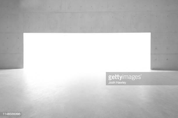 futuristic empty room, 3d rendering - sol caractéristiques d'une construction photos et images de collection