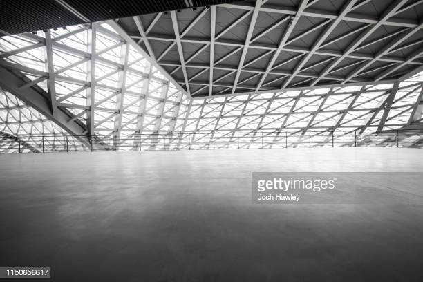 futuristic empty room, 3d rendering - flooring stock pictures, royalty-free photos & images