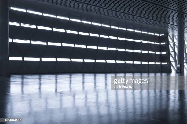 futuristic empty room, 3d rendering - dark stock pictures, royalty-free photos & images