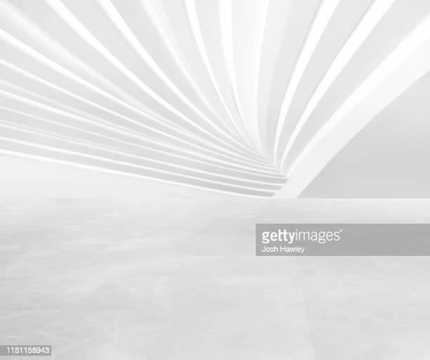 futuristic empty room, 3d rendering - 白 空間 ストックフォトと画像