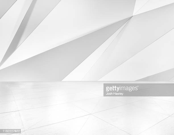 futuristic empty room, 3d rendering - natural phenomena stock pictures, royalty-free photos & images