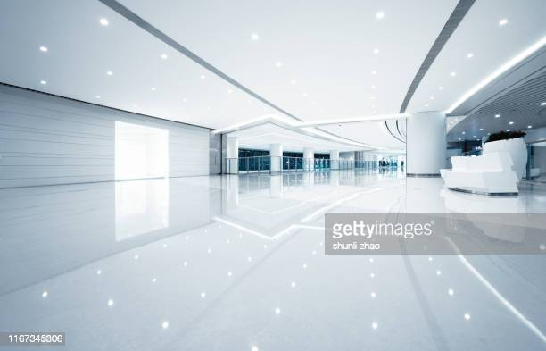 futuristic empty room, 3d rendering - high dynamic range imaging stock pictures, royalty-free photos & images