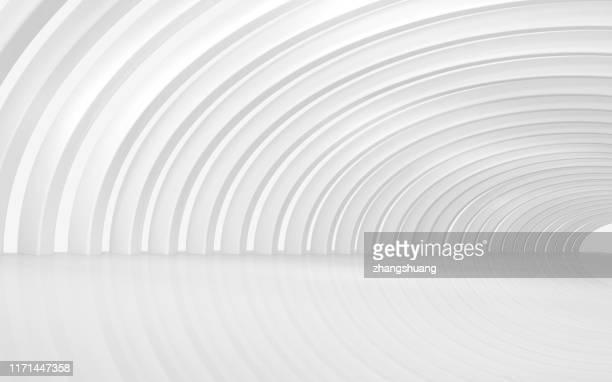 futuristic empty room, 3d rendering - strudel geometrische form stock-fotos und bilder