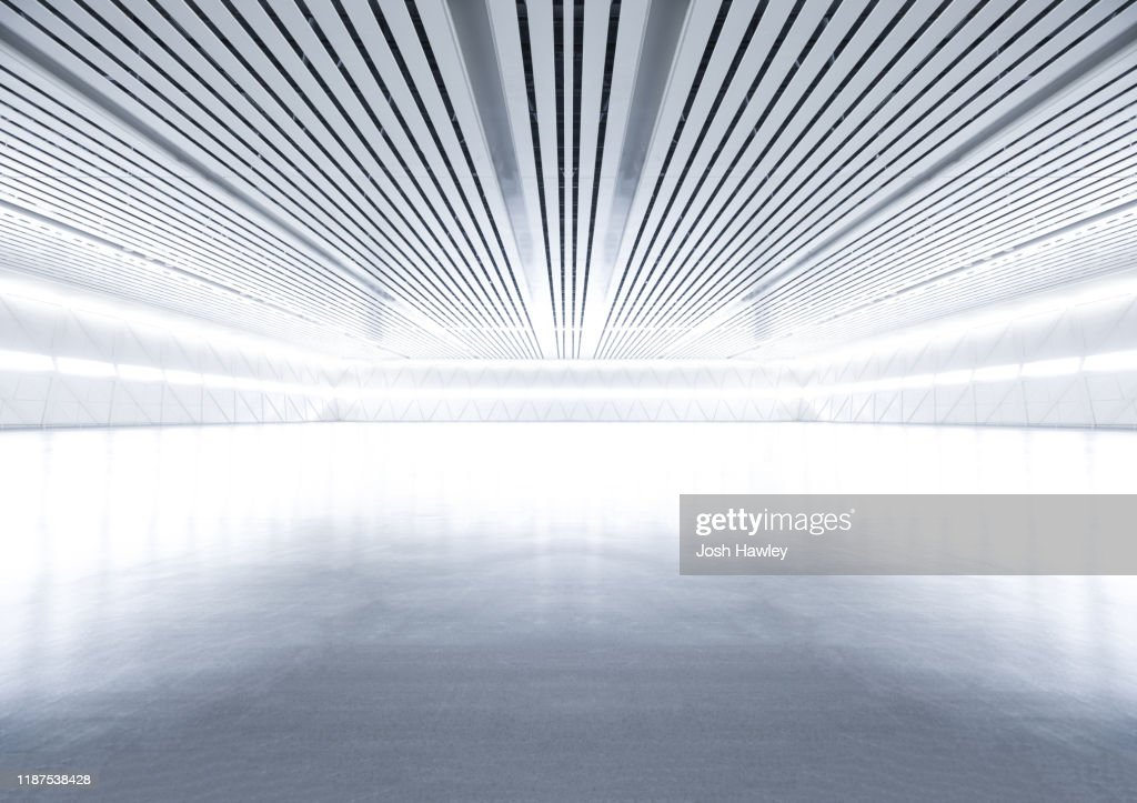 Futuristic empty room, 3D Rendering : Stock-Foto