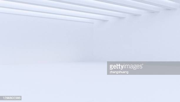 futuristic empty room, 3d rendering - empty stock pictures, royalty-free photos & images