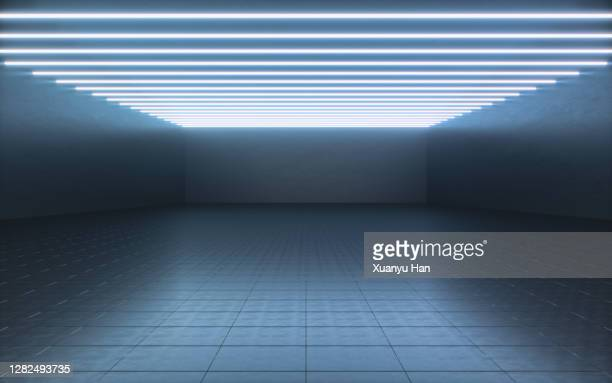 futuristic empty room - ceiling stock pictures, royalty-free photos & images