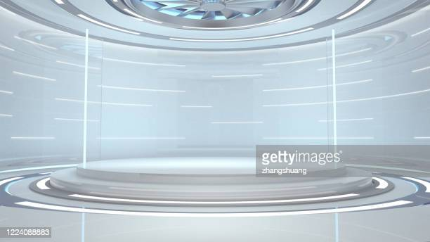 futuristic empty room,3d rendering - winners podium stock pictures, royalty-free photos & images