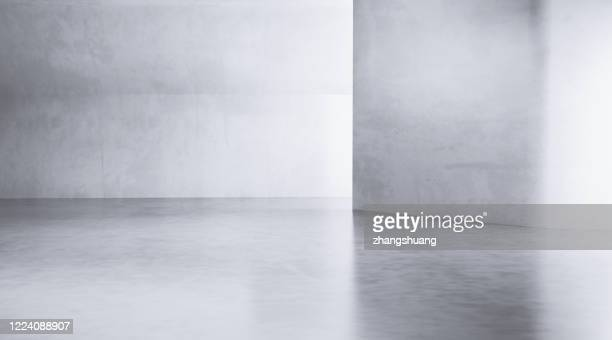 futuristic empty room,3d rendering - domestic room stock pictures, royalty-free photos & images