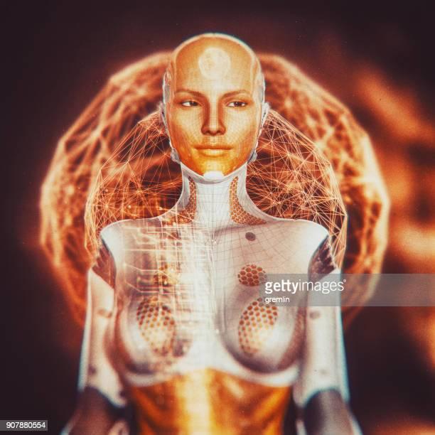 Futuristische weiblichen Cyborg design