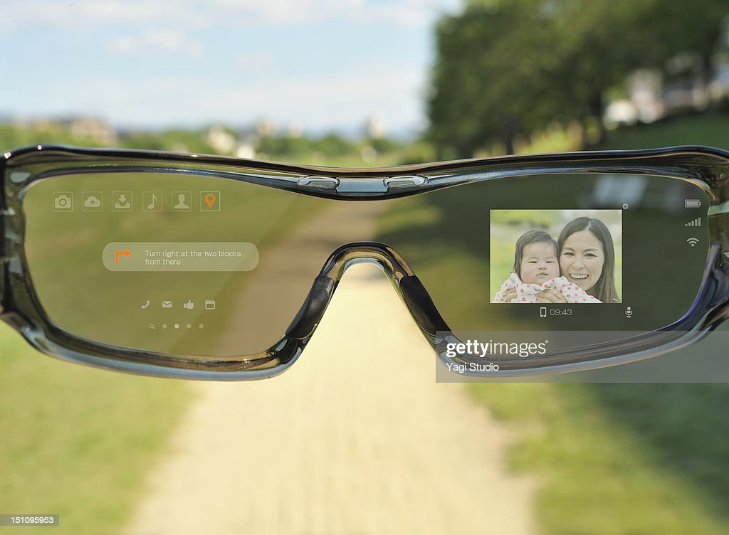 Futuristic glasses Phone : Stock Photo
