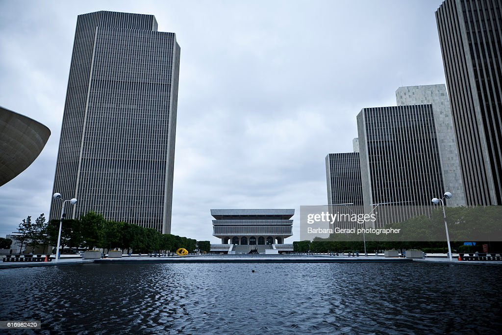 Futuristic Government Buildings - Albany : Stock Photo