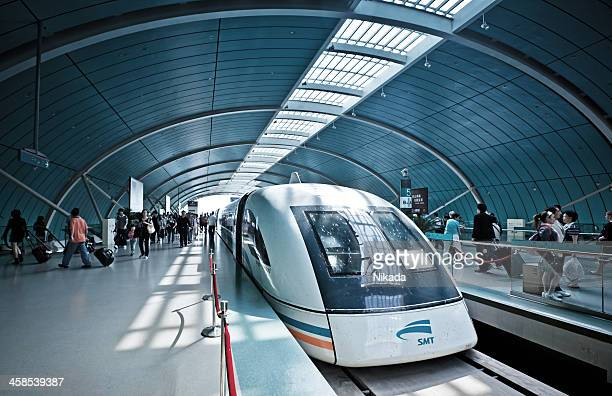 Futuristic high-speed train in China
