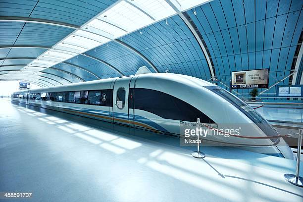Futuristic high-speed train in China