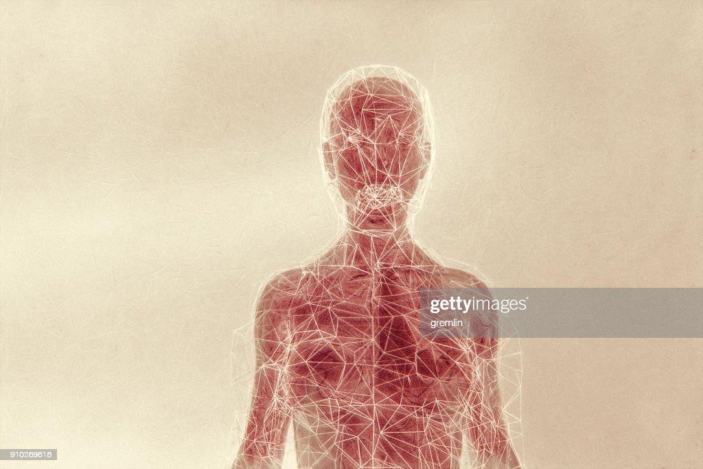 Futuristische humanoide Form : Stock-Foto