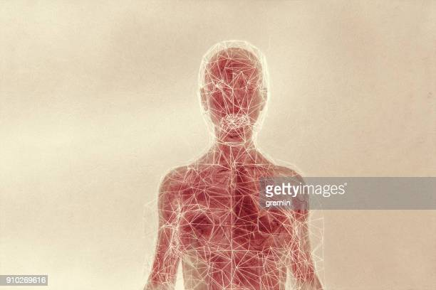 Futuristische humanoide Form