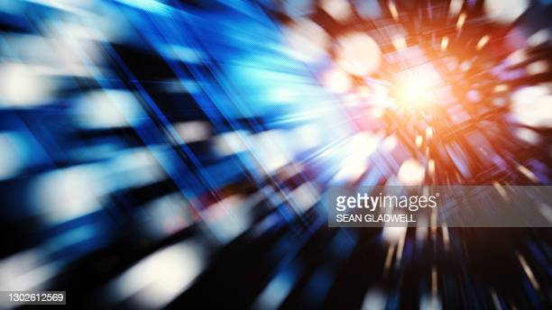 futuristic hyper speed graphic - vitality stock pictures, royalty-free photos & images