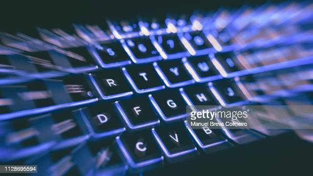 futuristic laptop keyboard - search engine stock photos and pictures
